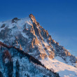 Stock Photo: Aiguille du Midi mountain peak