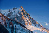 Aiguille du Midi mountain peak — Stock Photo