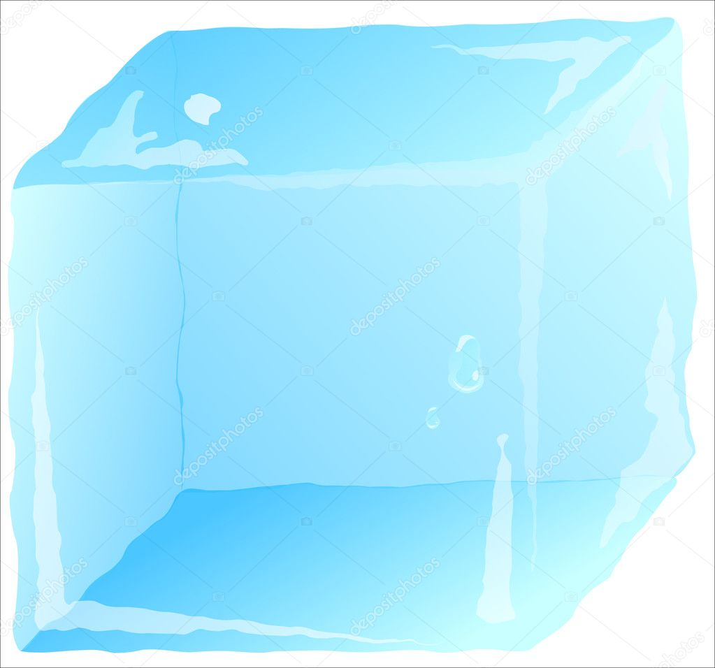 Ice cube isolated  Stock Vector #2203836
