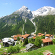 Foto Stock: Mountain village