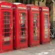 Royalty-Free Stock Photo: Red telephone boxes in Cambridge, UK