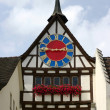 Foto Stock: Ancient clock (Stein am Rhein)