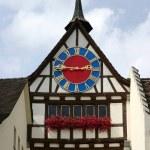Ancient clock (Stein am Rhein) — Foto de Stock