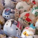 Collection of beautiful christmas balls — Stock Photo