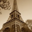 Stock Photo: Vintage Eiffel tower (Paris, France)