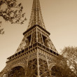 Vintage Eiffel tower (Paris, France) — Stock Photo #1803722
