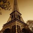 Vintage Eiffel Tower (Paris, France) — Stock Photo