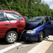 Stock Photo: Car accident on a highway