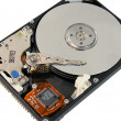 Opened laptop hard disk drive — Stock Photo