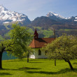 Chapel on the Walensee, Switzerland — Stock Photo