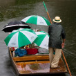 Royalty-Free Stock Photo: Punt with tourists under umbrellas