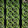 Iron fence pattern (Cambridge, UK) - Stock Photo
