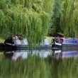 Narrow boat barge (Cambridge, UK) — Stock Photo