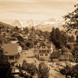 Stock Photo: Vintage photo of a Swiss village