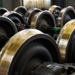 Stock Photo: Spare railway wheels