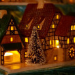 Christmas candle houses — Photo