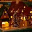 Christmas candle houses — 图库照片