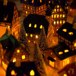 Foto de Stock  : Christmas candle houses