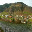 Stock Photo: Panoramic view of a swiss village