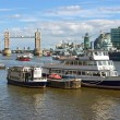 View over the River Thames (London, UK) - Stock Photo