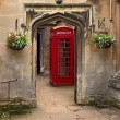 British telephone red box in Oxford, UK. — Stock Photo #1808447