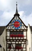 Ancient clock (Stein am Rhein) — Stock Photo