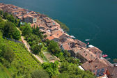 Red tiled roofs in Ticino — Stock Photo