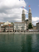 Cathedral Grossmunster in Zurich — Stock Photo