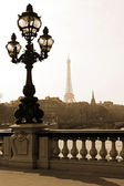 Lamppost on the bridge in Paris — Stock Photo