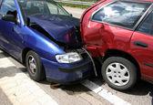 Wypadek samochodowy — Zdjęcie stockowe