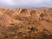 Desert landscape in Tunisia — Stock Photo