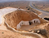 Troglodyte dwelling in Tunisia — Stock Photo