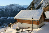 Snow covered house — Stock Photo