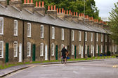 Row of characteristic english houses — Stock Photo