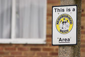 Neighbourhood watch area sign in England — Stock Photo
