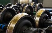 Spare railway wheels — Stock Photo