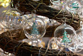Traditional christmas glass balls — Stock Photo