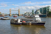 View over the River Thames (London, UK) — Стоковое фото