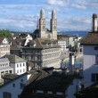 Zurich city center. Grossmunster view. — Stock Photo