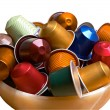 Stock Photo: Colorful coffee capsules