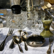 Antique tableware — Stock Photo