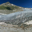 Rhone glacier panorama (Switzerland) — Stock Photo