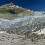 Rhone glacier panorama (Switzerland) — Stock Photo