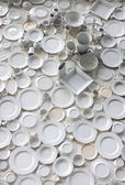The porcelain wall in Basel, Switzerland — Stock Photo