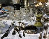 Antique tableware — Stock Photo