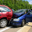 Car accident on a highway - Stock Photo