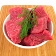 Fresh raw beef on cutting board — Stock Photo #2259049