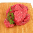 Fresh raw beef on cutting board — Stock Photo