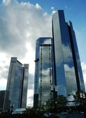 High modern skyscrapers — Stock Photo