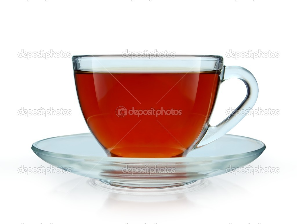 Glass Cup of Tea Isolated on White — Stock Photo #2009518